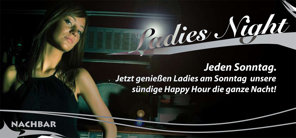 Einladungsflyer Ladies Night für Bar