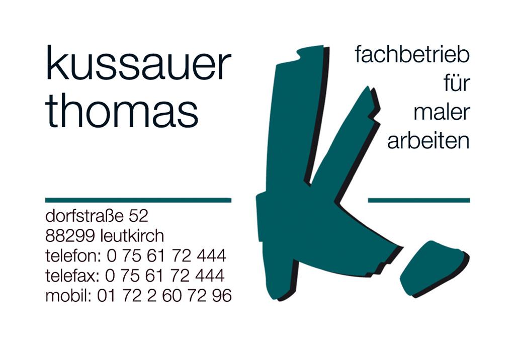 Visitenkarten für Malermeister Thomas Kussauer