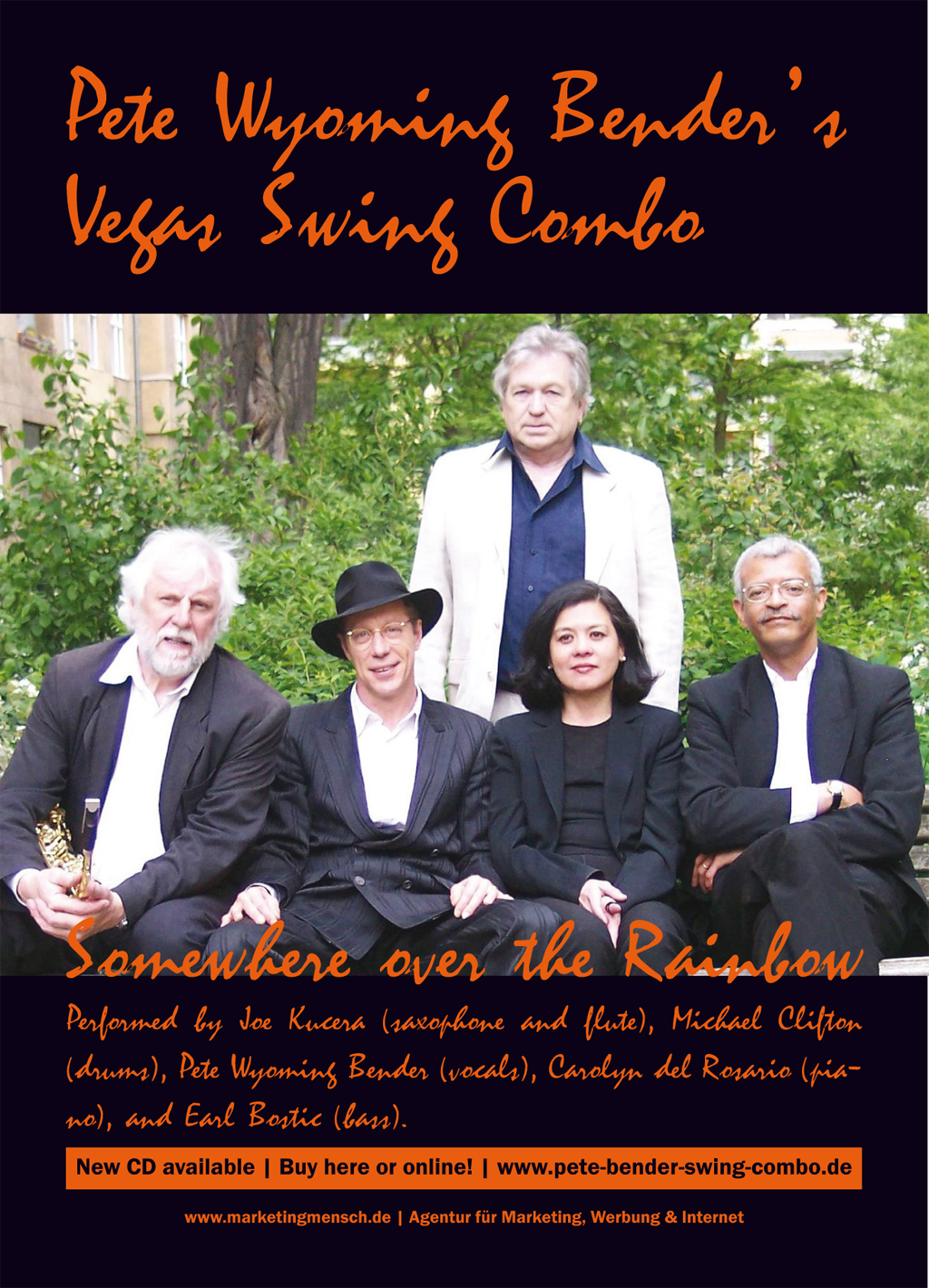 Flyer und Plakat Pete Wyoming Bender's Vegas Swing Combo