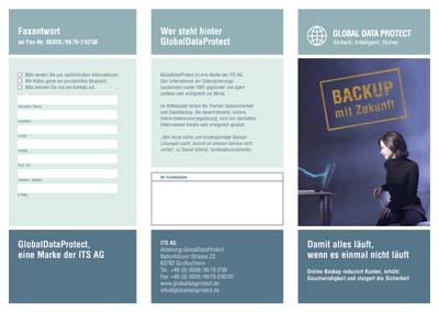 Flyer zum Thema Online-Backup für die ITS AG