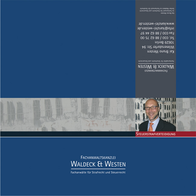 Kanzleiflyer Rechtsanwaltskanzlei Waldeck & Westen