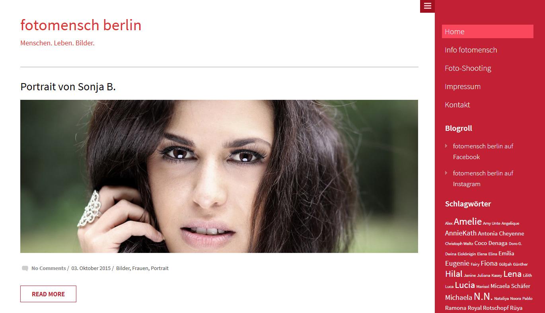Webseite für fotomensch berlin