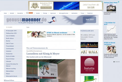 genussmaenner.de – Lifestyle-Portal