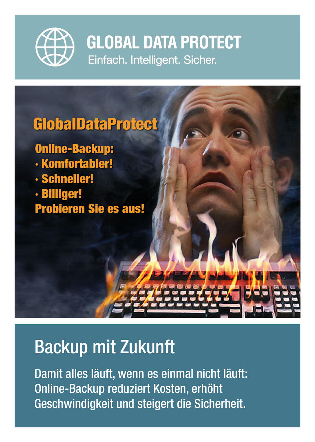Flyer Online-Backup für ITS AG