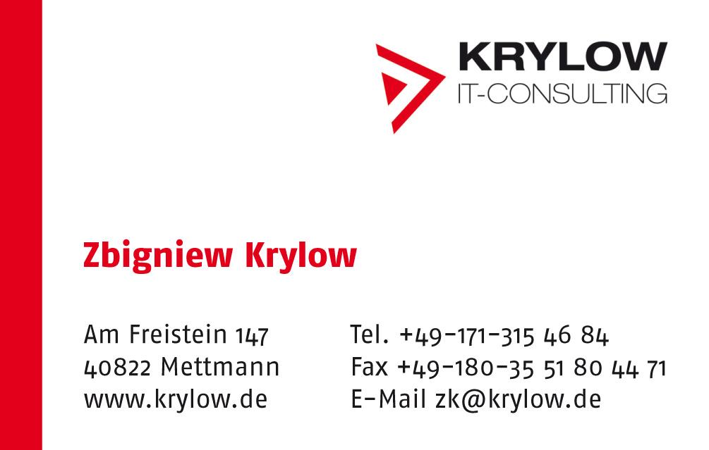 Visitenkarte für Krylow IT-Consulting