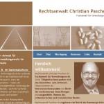 Webseite für Rechtsanwalt Paschen
