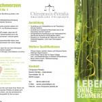 Flyer für Chiropraxis Petralia