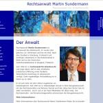 Webseite für Rechtsanwalt Martin Sundermann