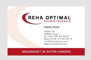 Visitenkarte für Reha Optimal