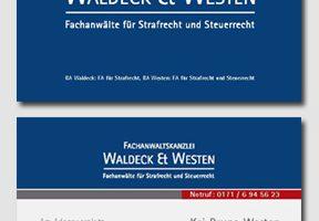 Visitenkarten für Strafverteidiger Waldeck & Westen