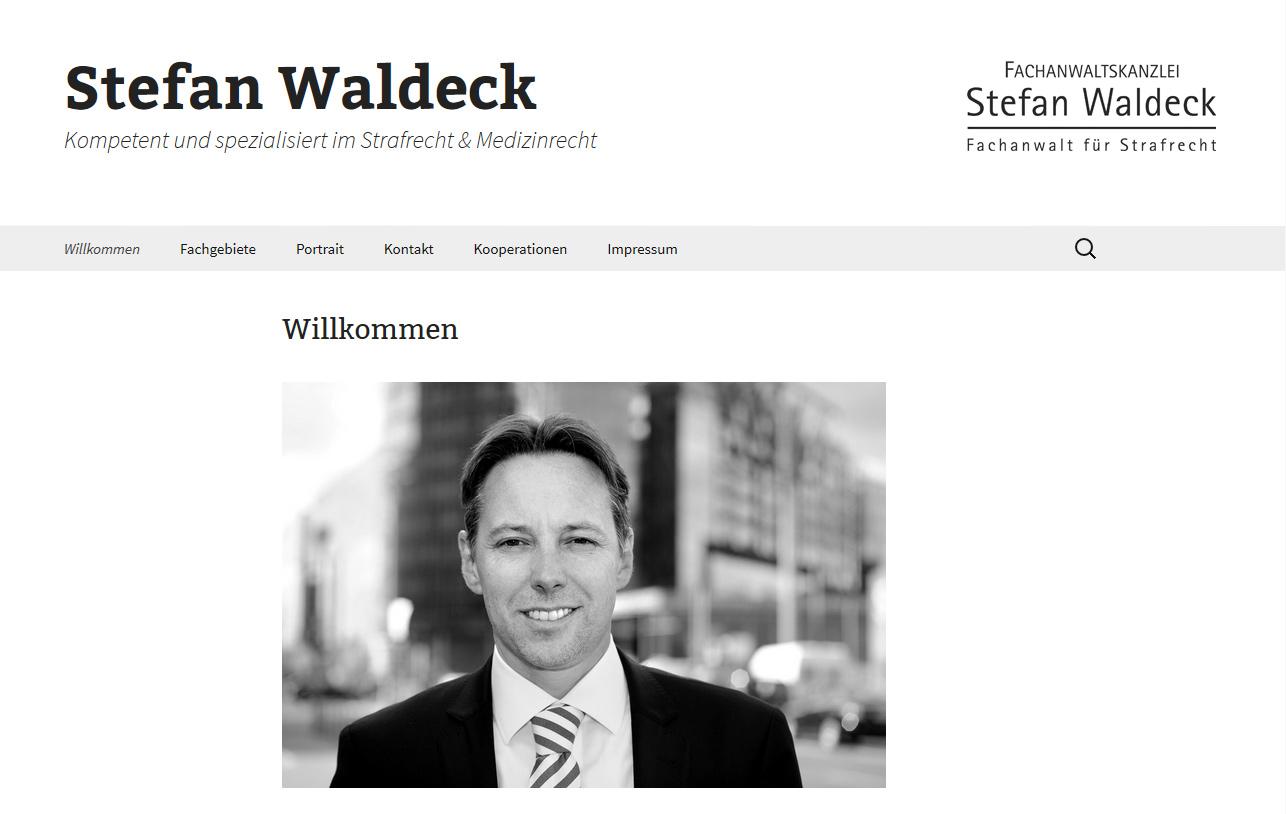 Webseite Rechtsanwalt Waldeck