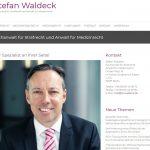 Webseite Rechtsanwalt Stefan Waldeck