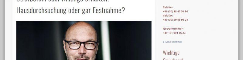 Webseite für Rechtsanwalt Kai Bruno Westen