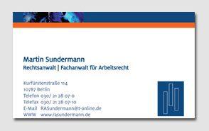 Visitenkarte für Rechtsanwalt Sundermann